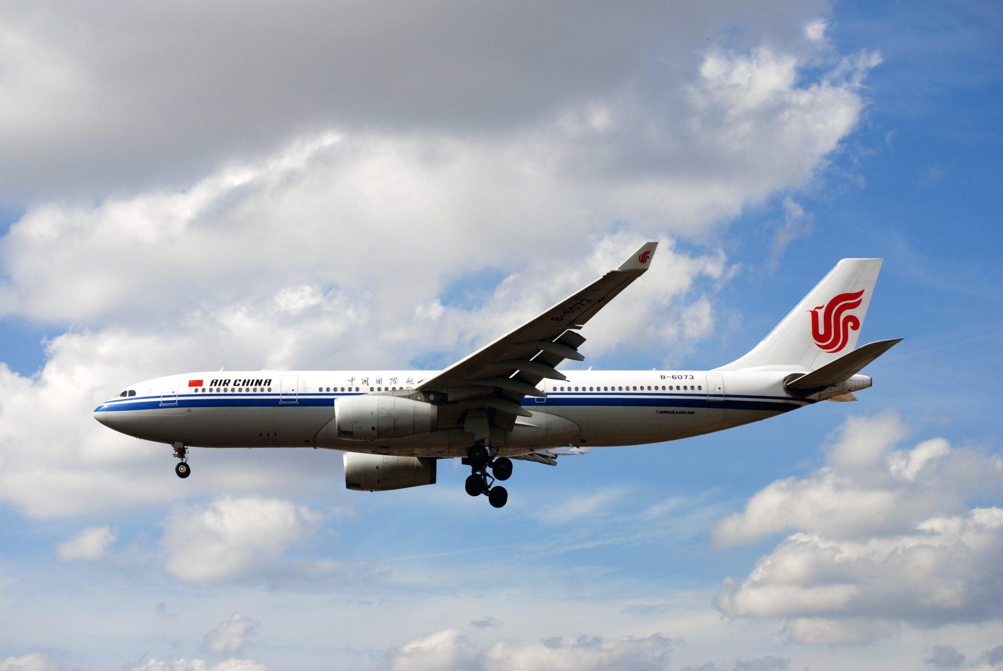 An Air China flight