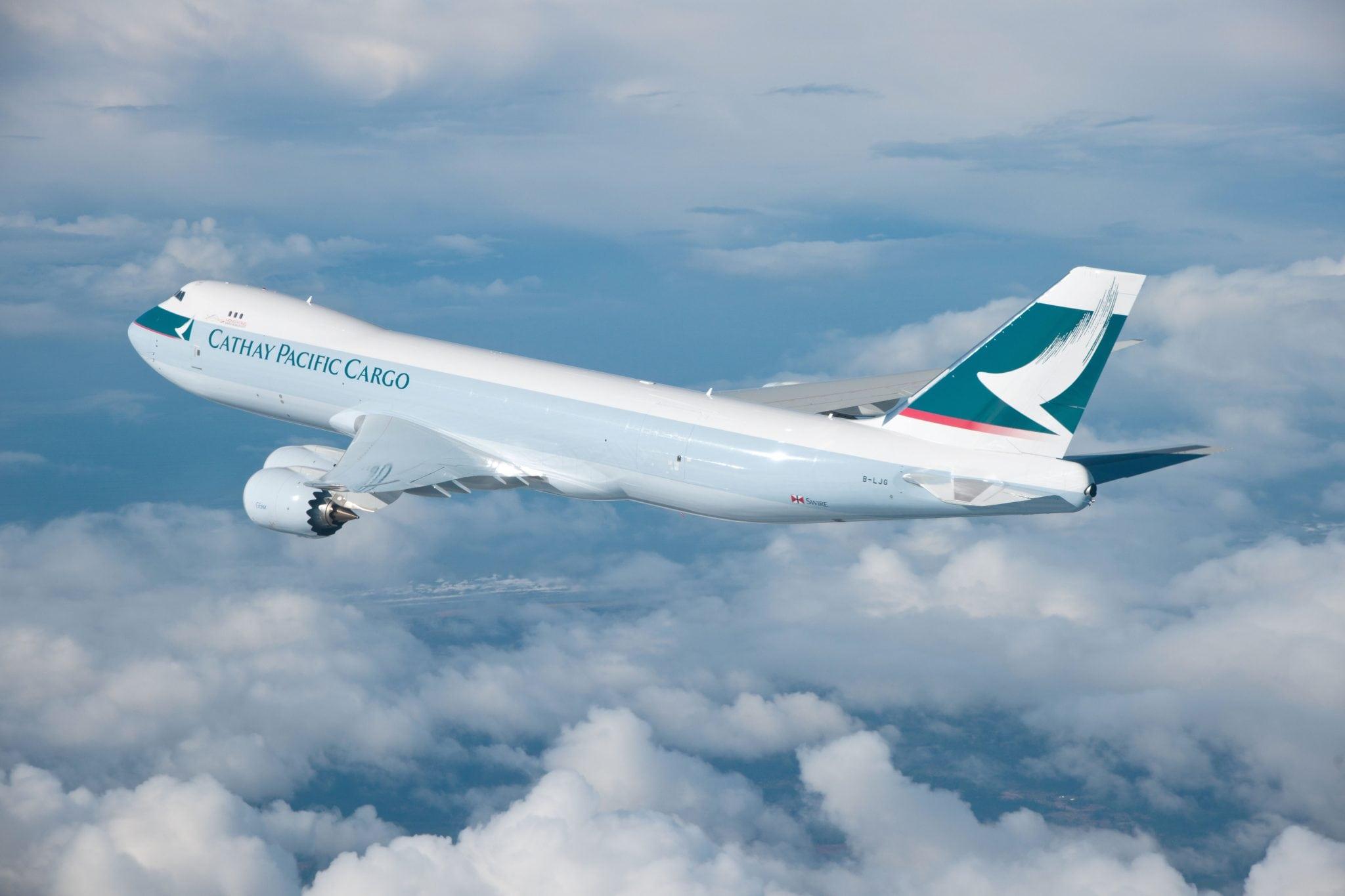 A Cathay Pacific Airways cargo flight
