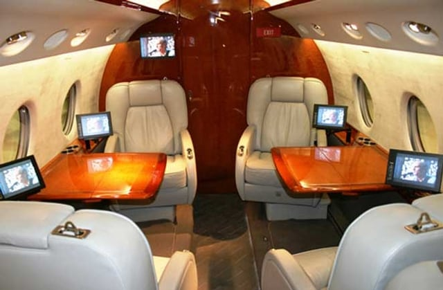 ExcelAire GIV-SP Private Jet Interior