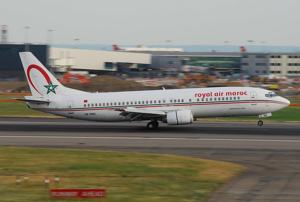 A Royal Air Maroc Flight at take off