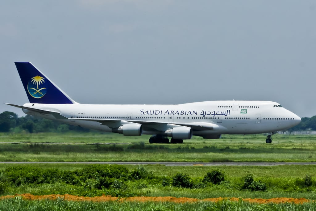 A Saudi Airlines Flight
