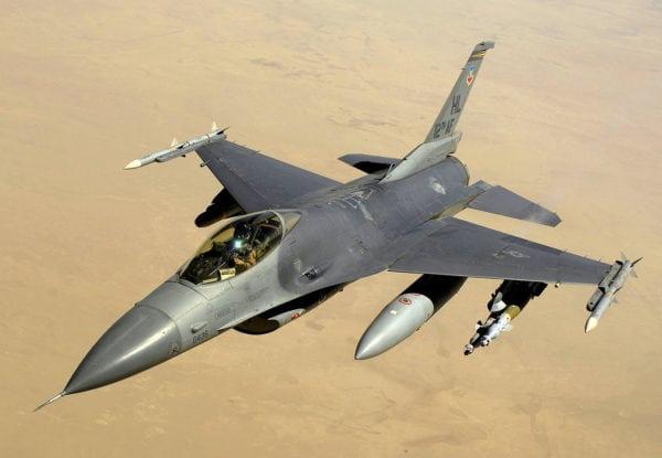 USAF F-16.