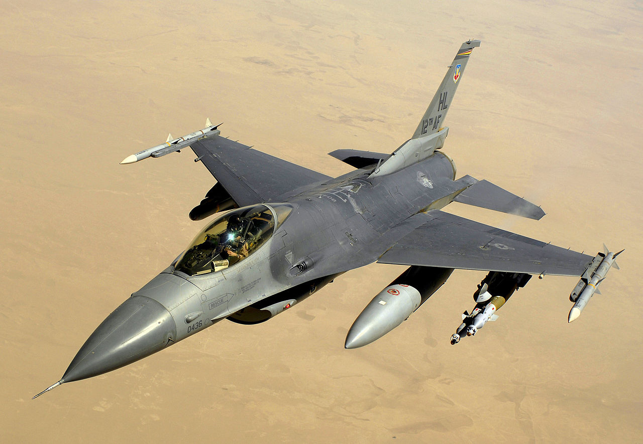 A U.S. Air Force F16 in Flight