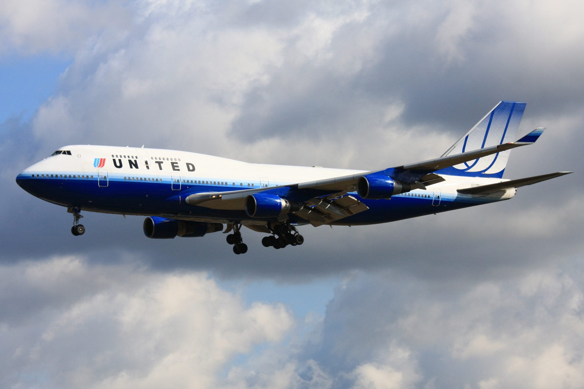 A United Airlines flight