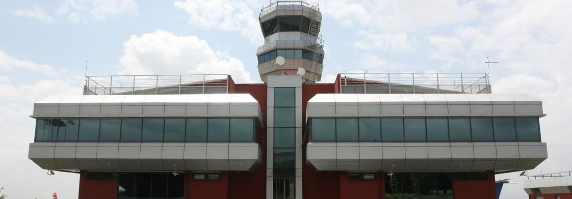 The air navigation center at Tbilisli airport in Georgia