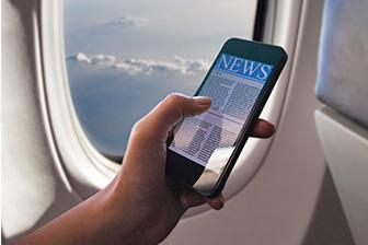Phones and tablets can now stay connected throughout flight on European airlines
