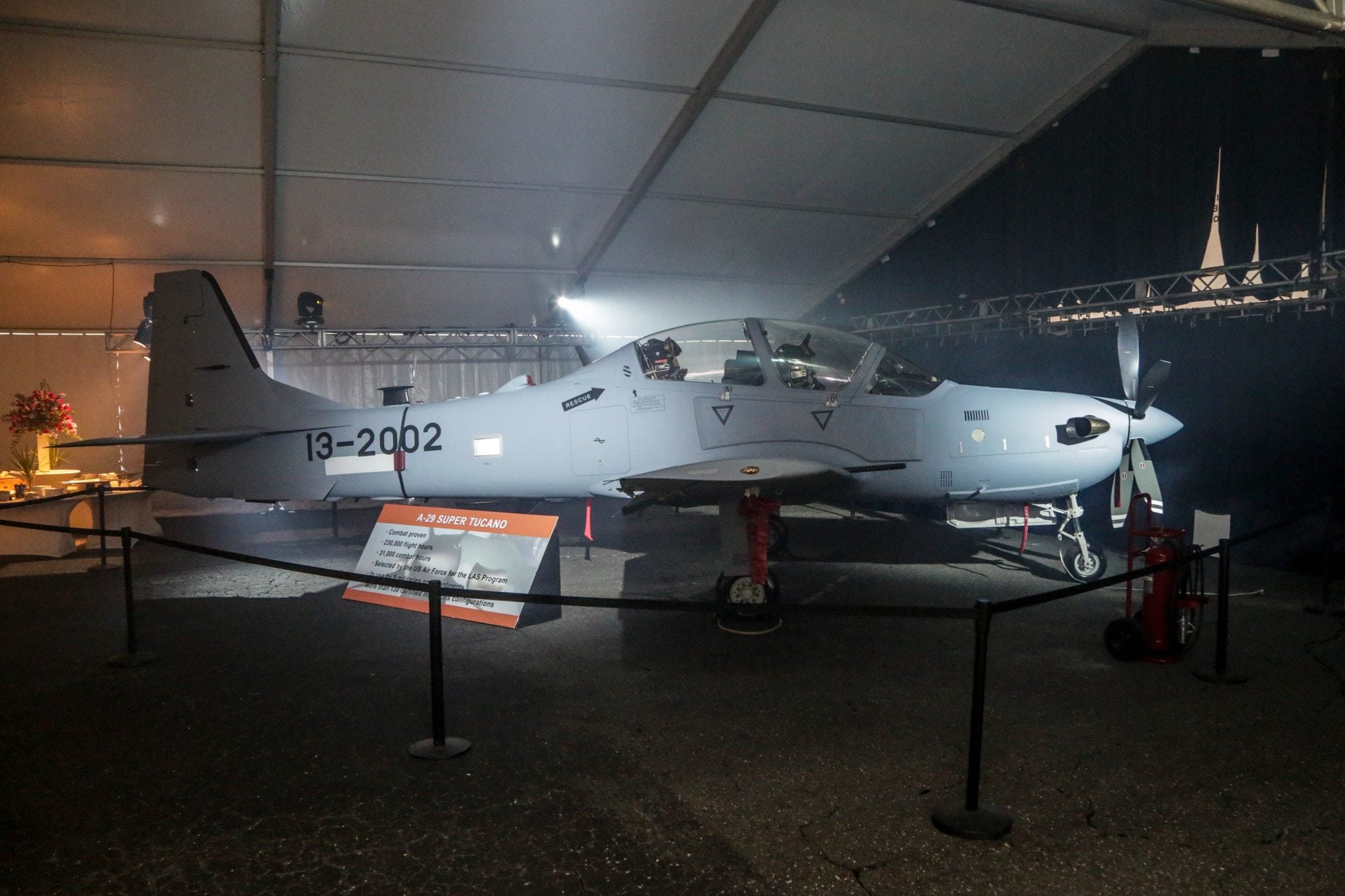The first US built A-29 Super Tucano aircraft