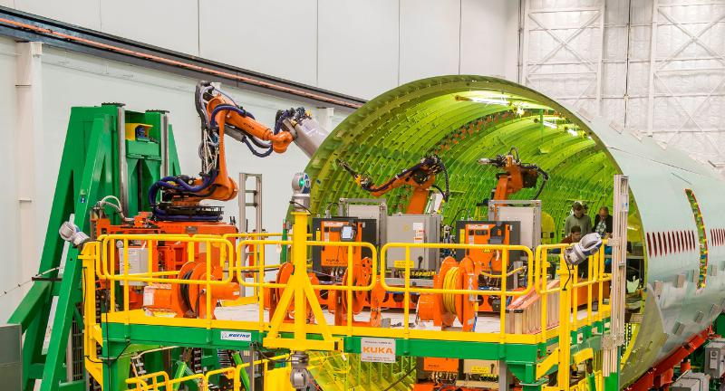 The Fuselage Automated Upright Build (FAUB) robotic manufacturing system