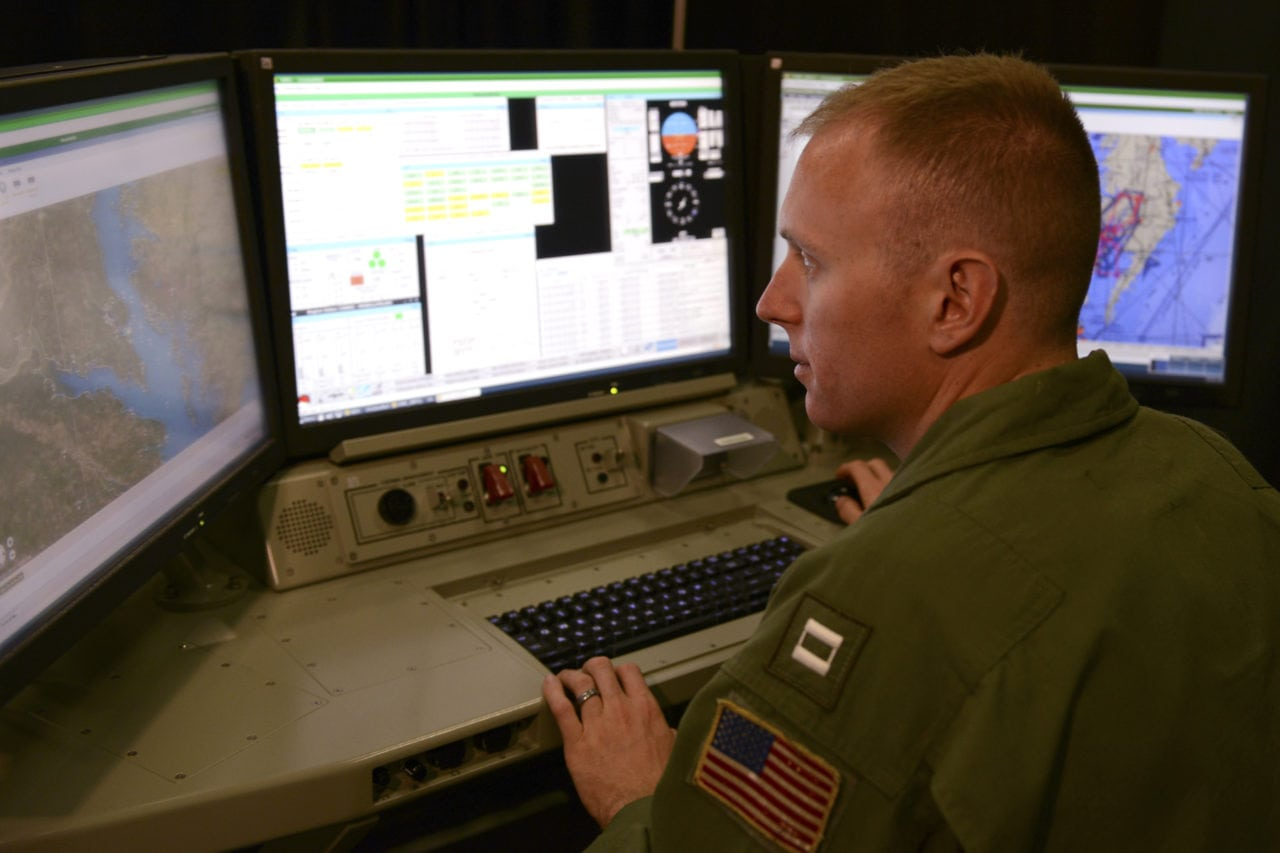 Navy flight test pilot demonstrates functionality of new software for the future UClass system