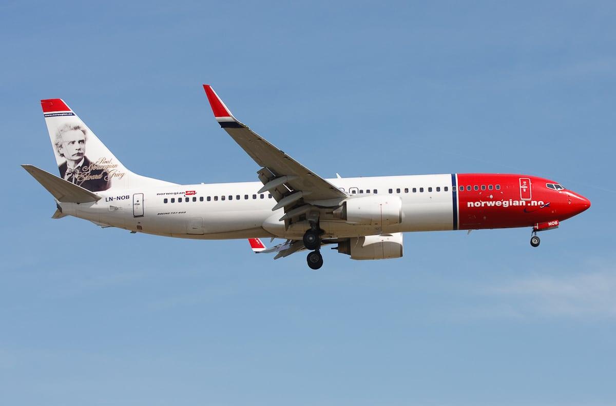A Norwegian Airlines flight