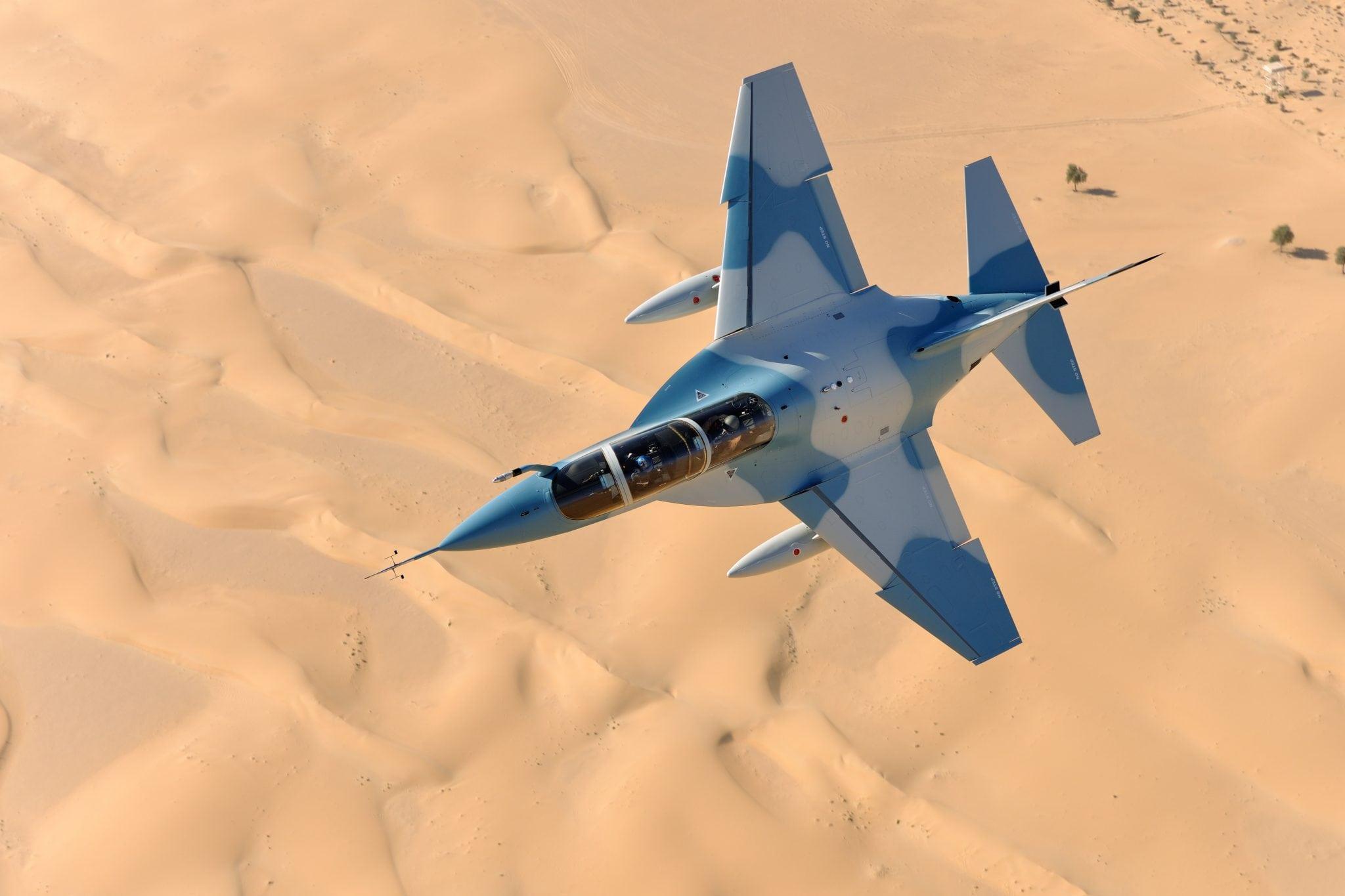 Poland's new M346 advanced jet trainer in flight