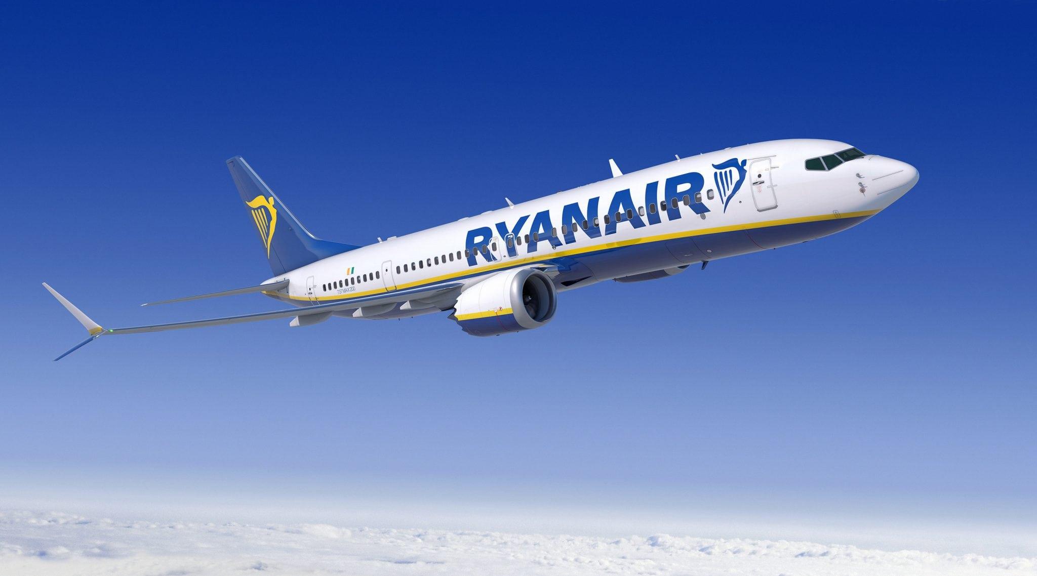 A rendering of the Ryanair Boeing 737 Max 200