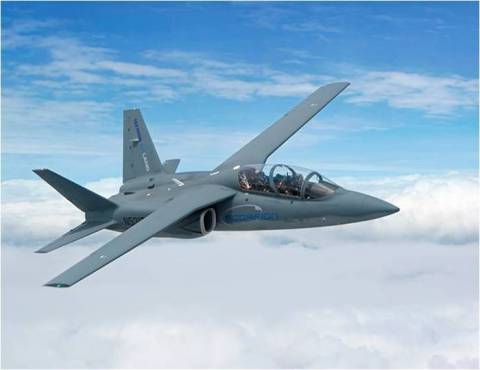 The Textron AirLand Scorpion in flight