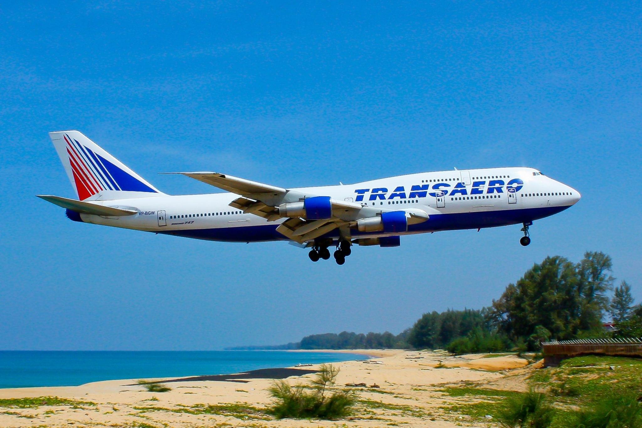 A Transaero Airlines flight