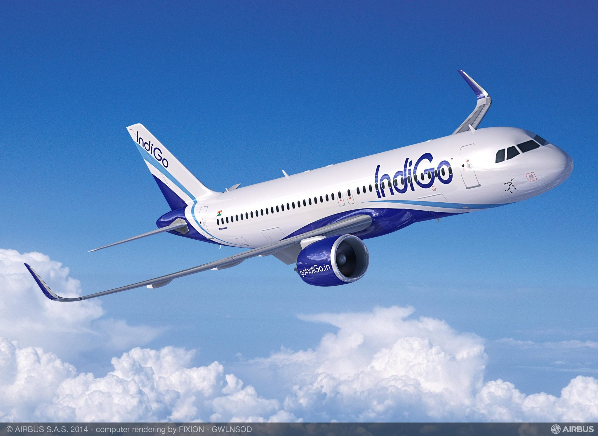 Airbus A320neo in IndiGo livery