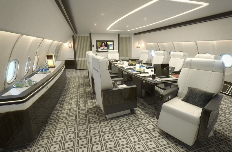 Cabin on the new Airbus A330-200