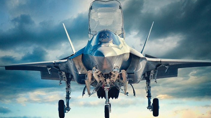 F-35 Joint Strike Fighter for which Pratt & Whitney supply the propulsion systems
