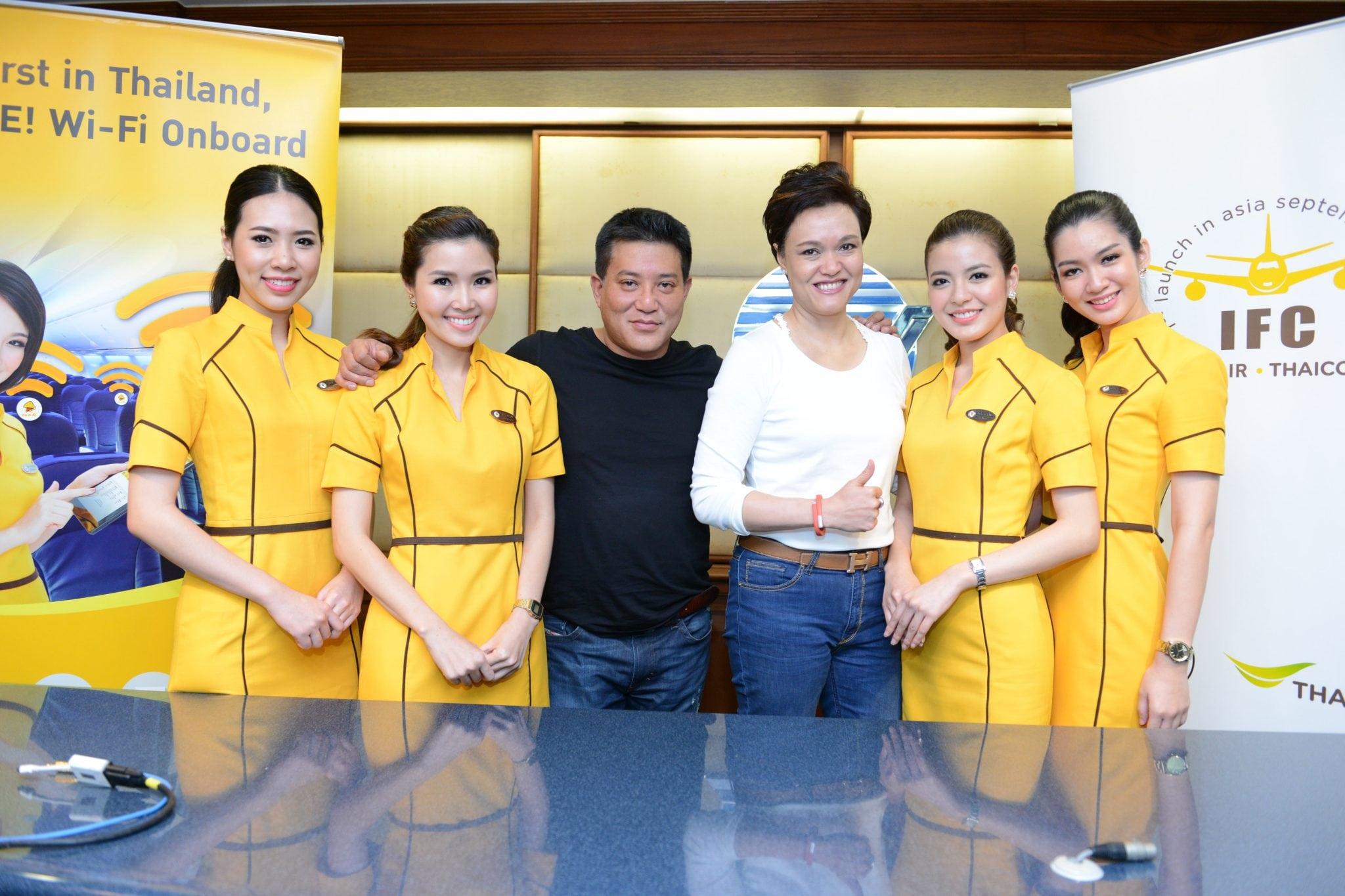 Patee Sarasin Nok Air CEO with Suphajee Suthumpun, Thaicom CEO