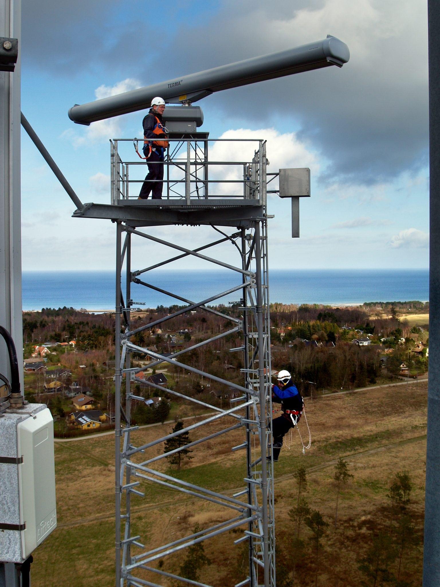 A SCANTER radar site in Denmark