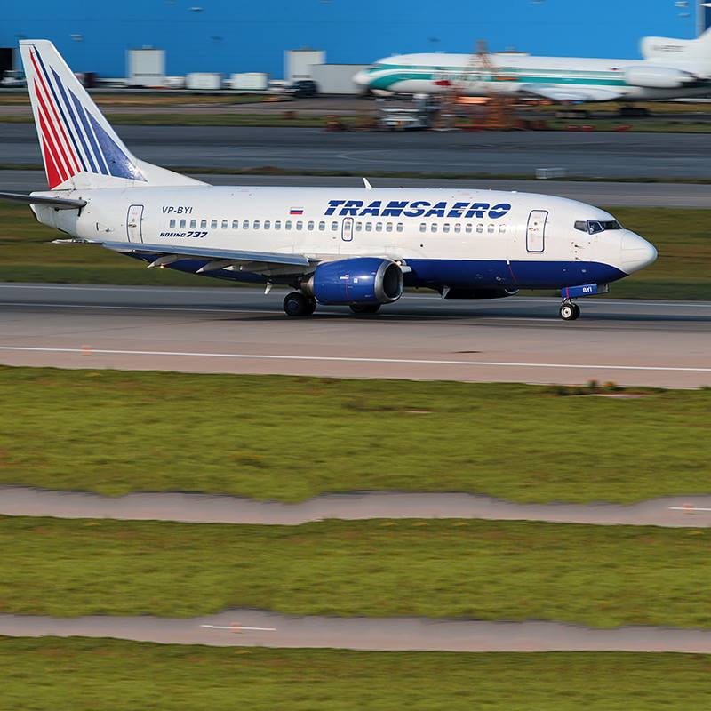 Transaero Airlines flight
