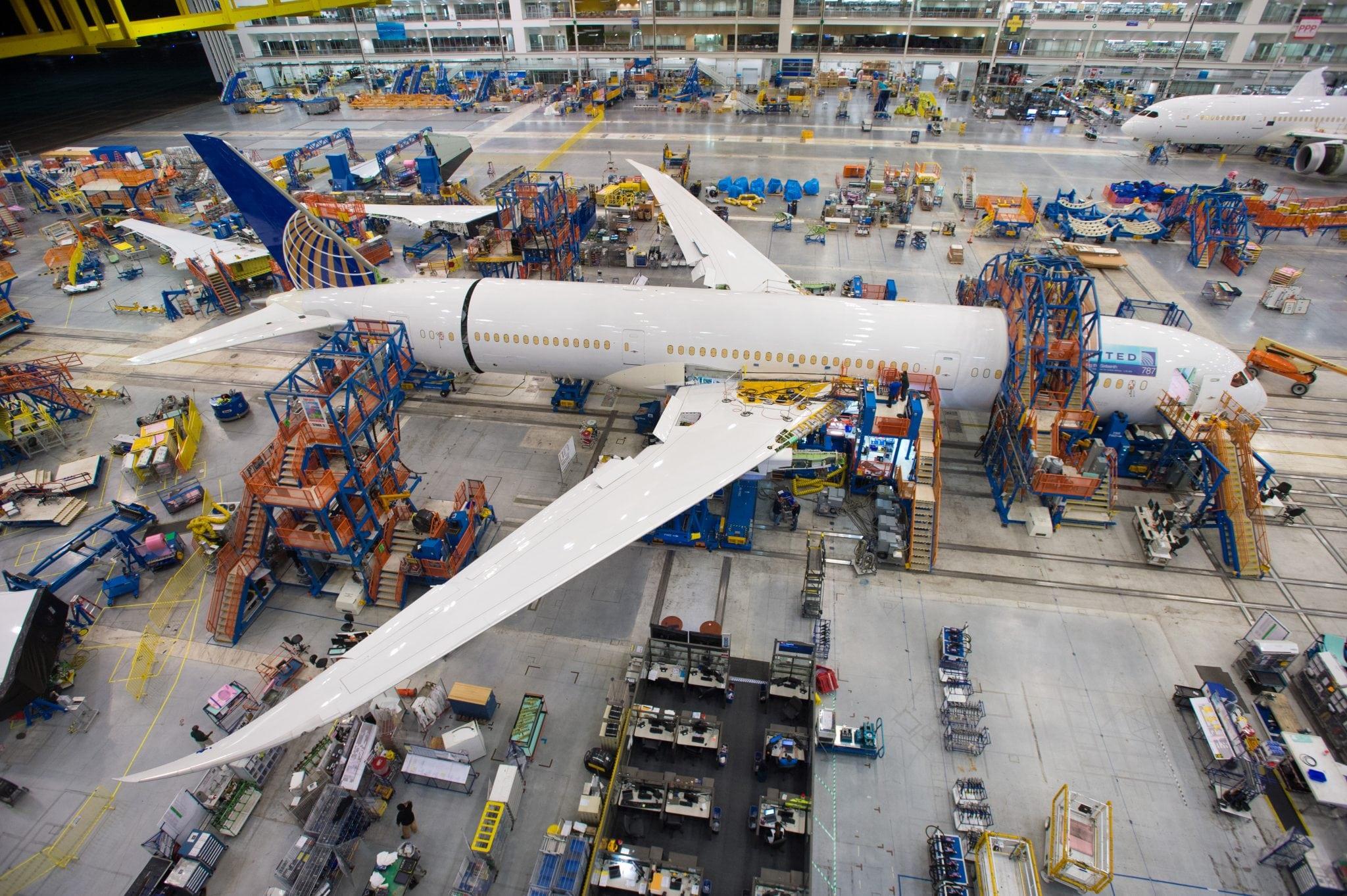 Assembly of the 787-9 Dreamliner at the South Carolina facility