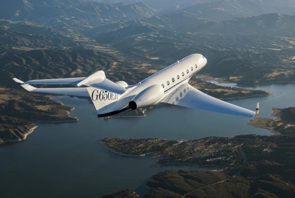 Gulfstream G650ER in flight