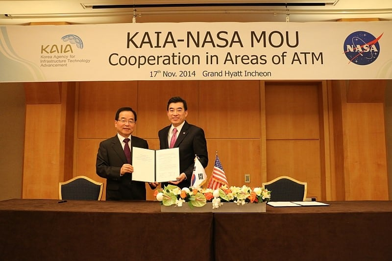 NASA and Korea Ink Agreement to Further ATM Technologies