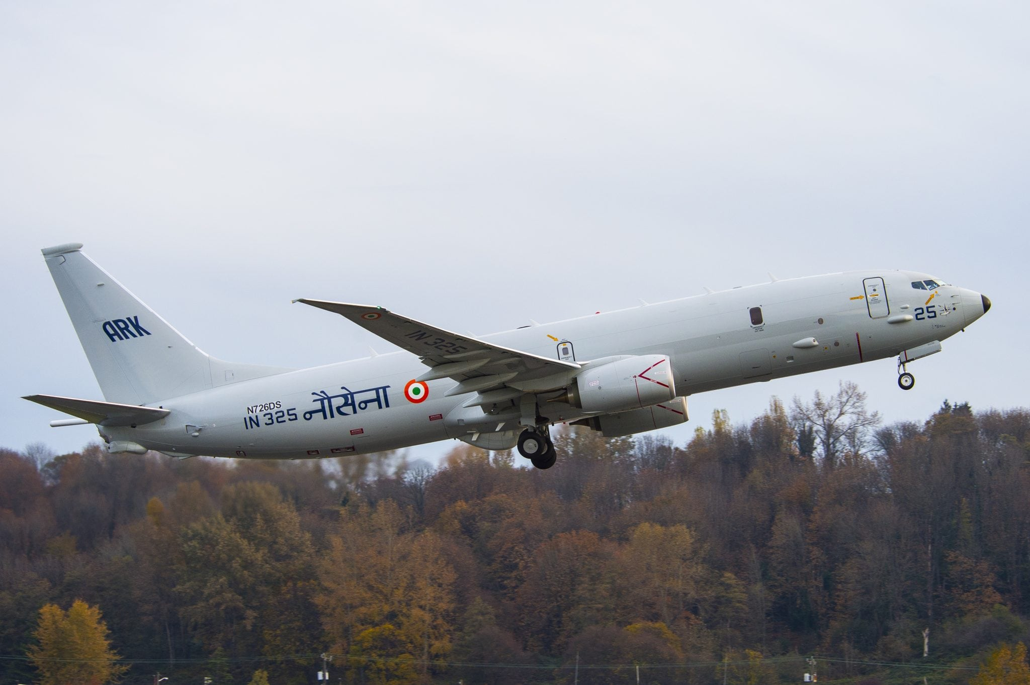 The Boeing P-8I maritime patrol aircraft