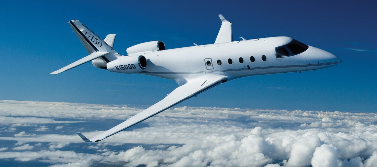 Gulfstream G150 aircraft in flight