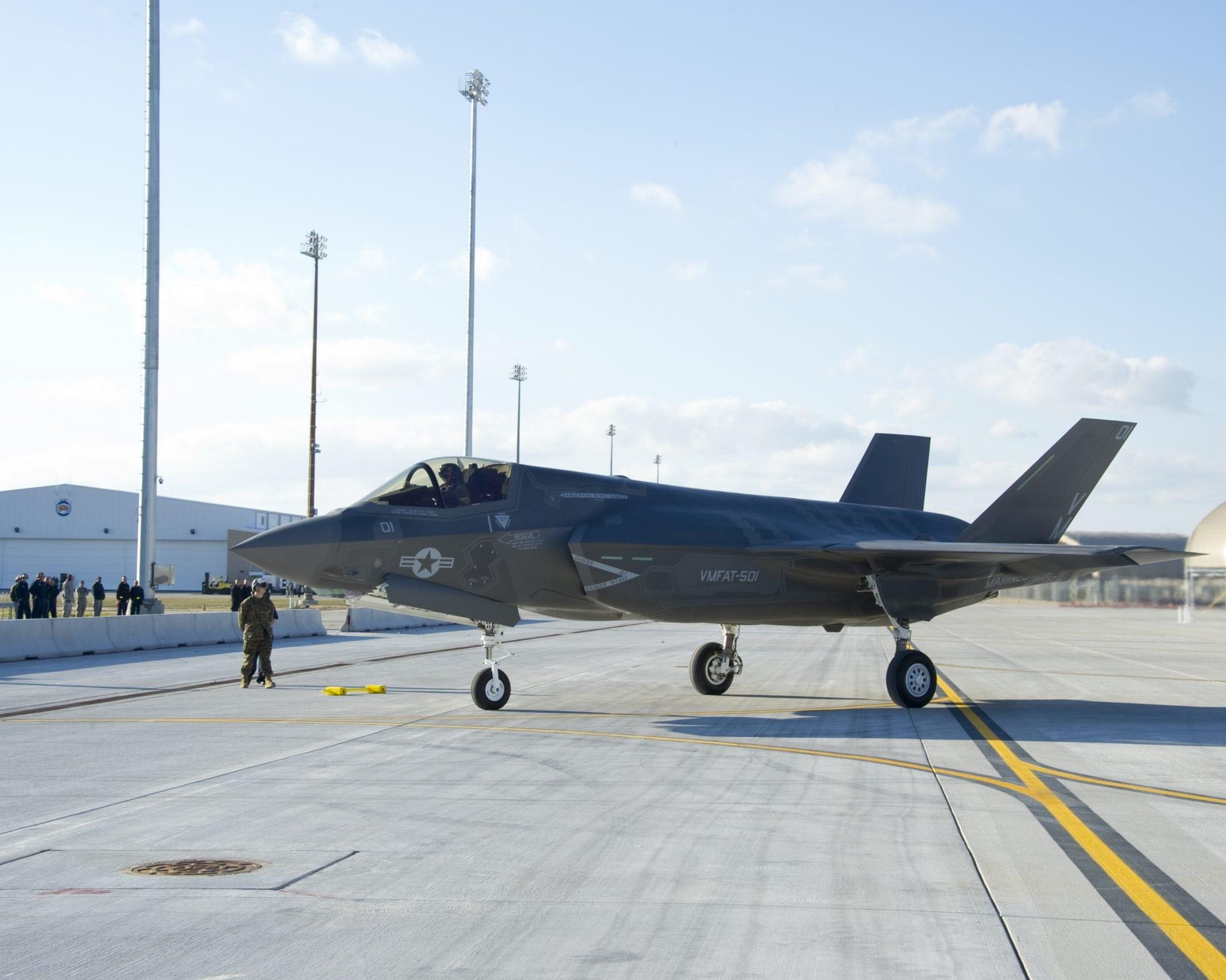 The F-35B at Elgin Air Force Base, Fla.