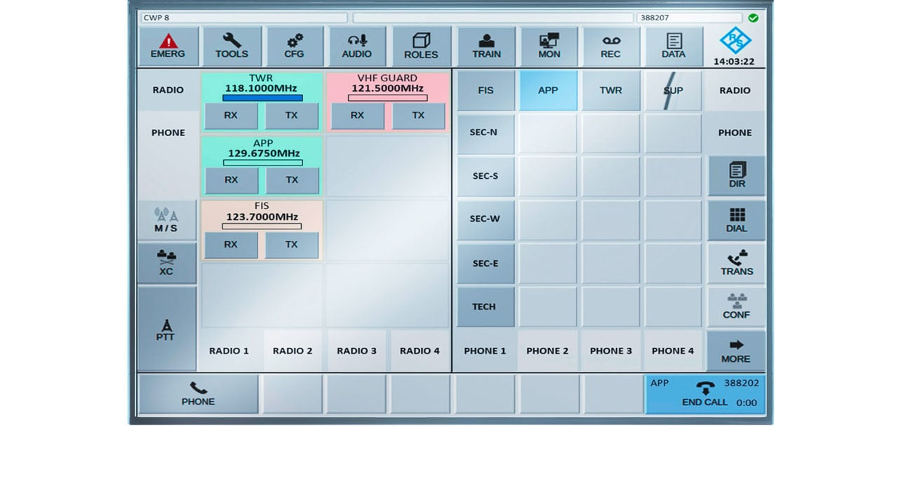 The Rohde and Schwarz R&S VCS-4G voice communications system