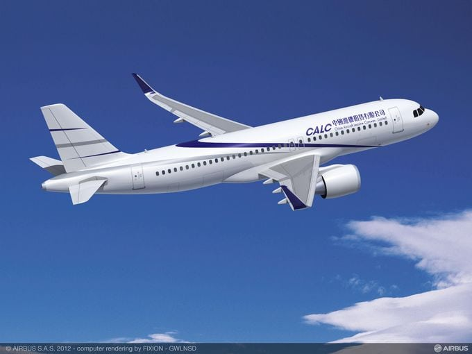 Airbus A320_neo in CALC livery, rendering