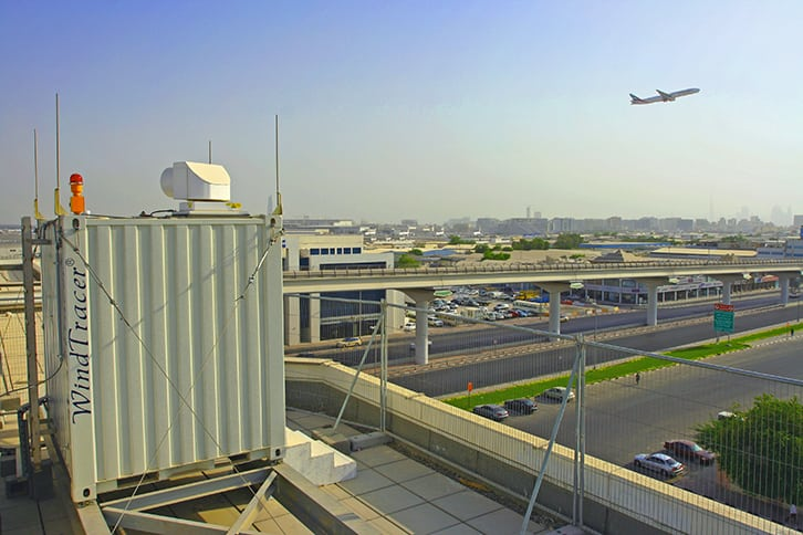 WindTracer at Dubai airport