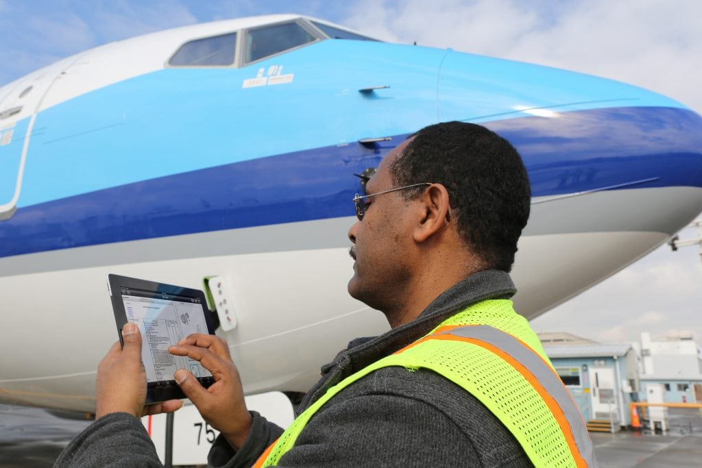 Boeing [NYSE: BA] – September 4, 2013 – Boeing's suite of Mobile Line Maintenance Applications give technicians immediate access to manuals, part numbers and other critical information to resolve maintenance issues plane-side and collaborate with co-workers located elsewhere K65969