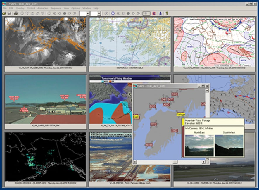 OASIS II program to manage flight planning and real-time weather briefing