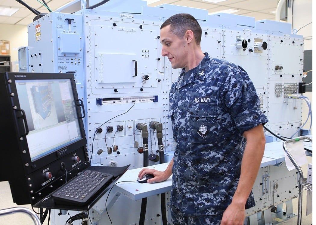 Marine using eCASS system