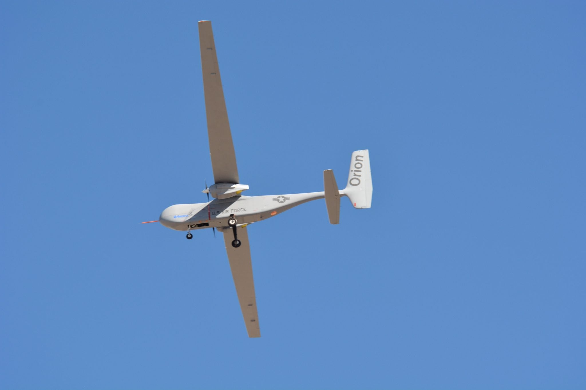 The Orion UAS in flight