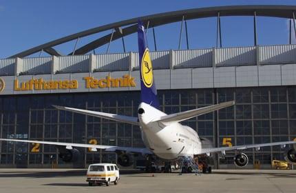 Lufthansa Technik aircraft hanger
