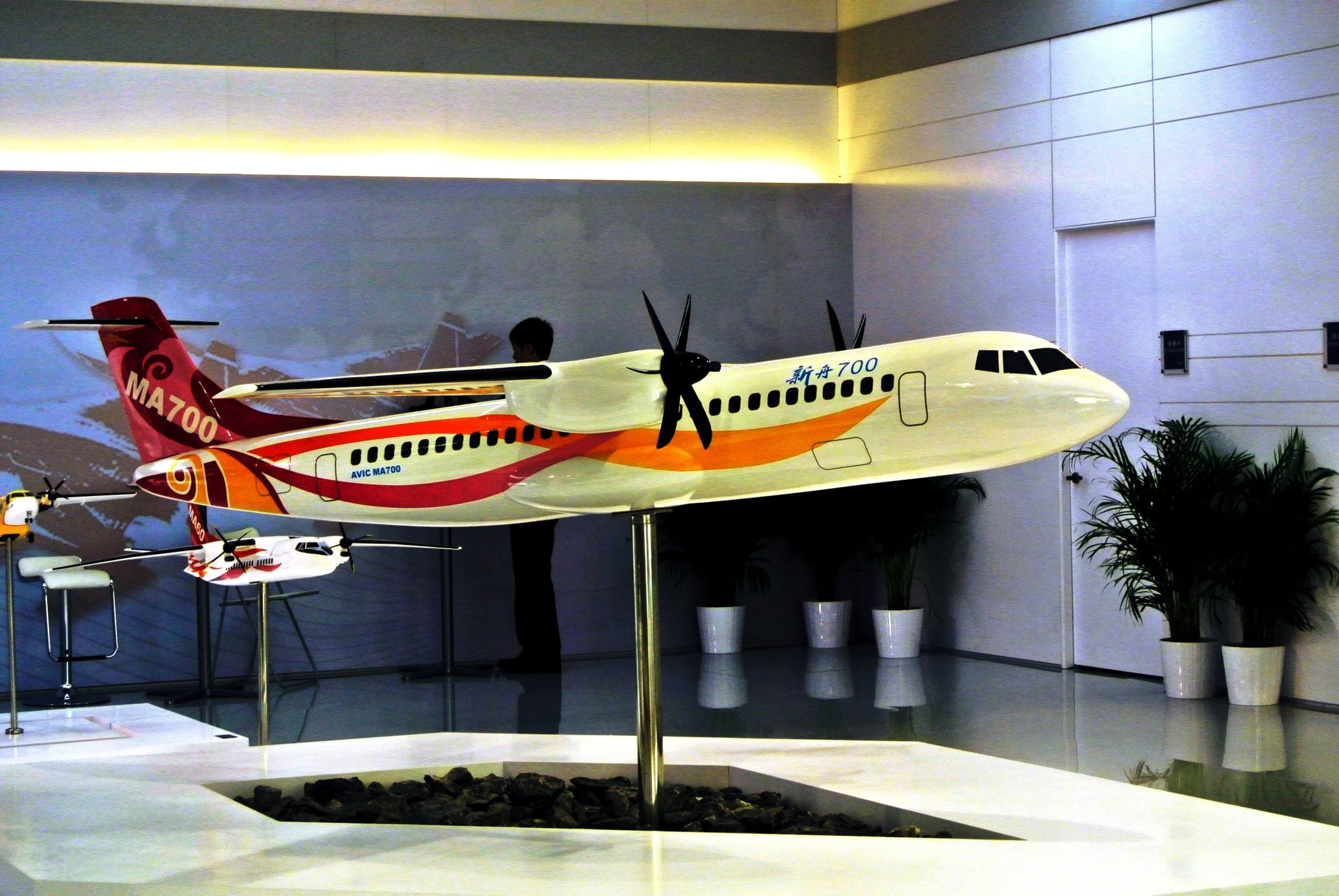 Model of AVIC's MA700 on display