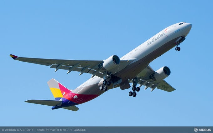 Asiana Airlines A330 in flight