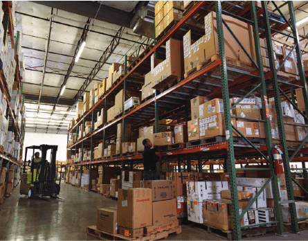 Interior of a Rockwell Collins Intertrade distribution center