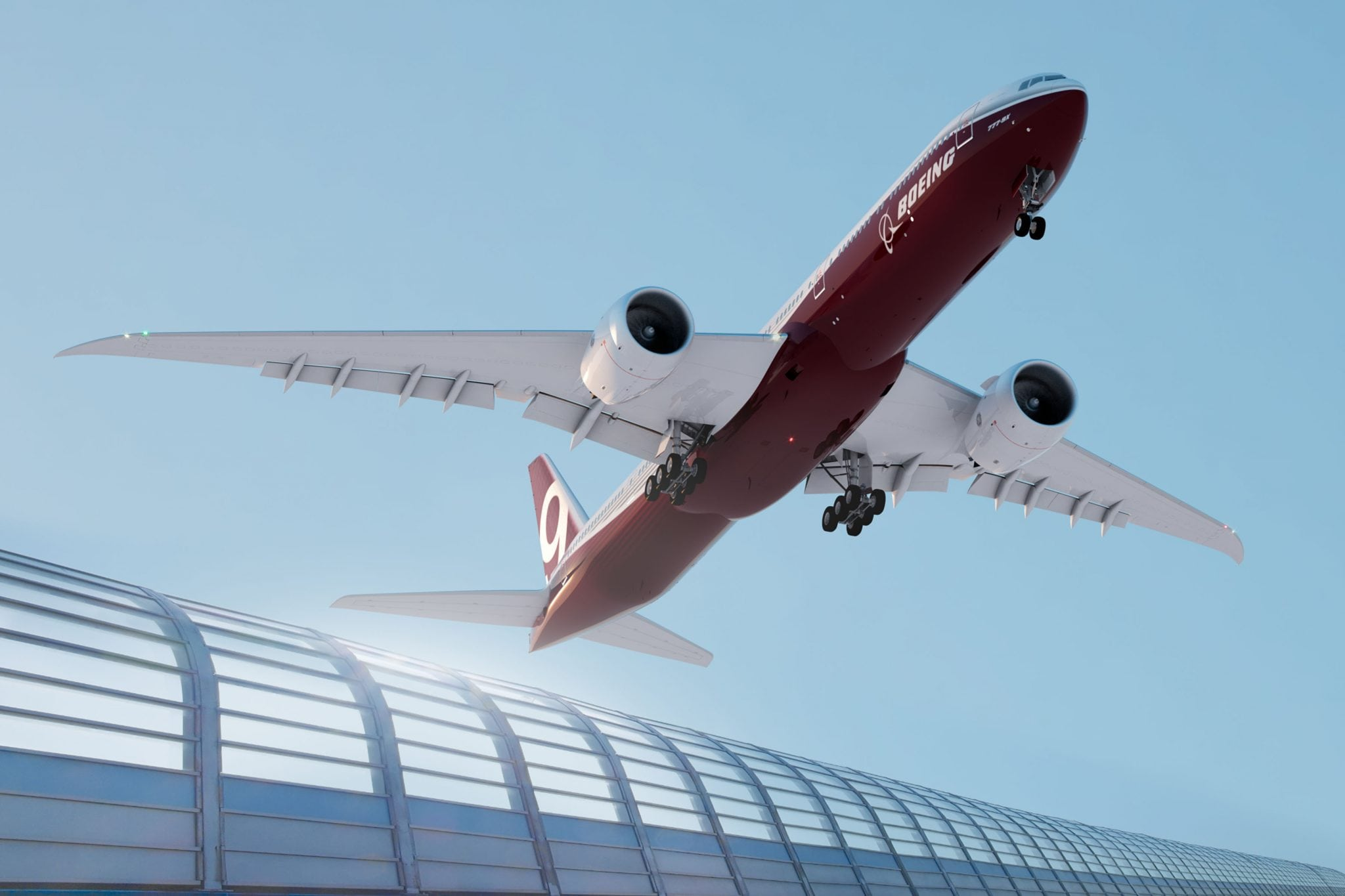 Boeing 777X, rendering