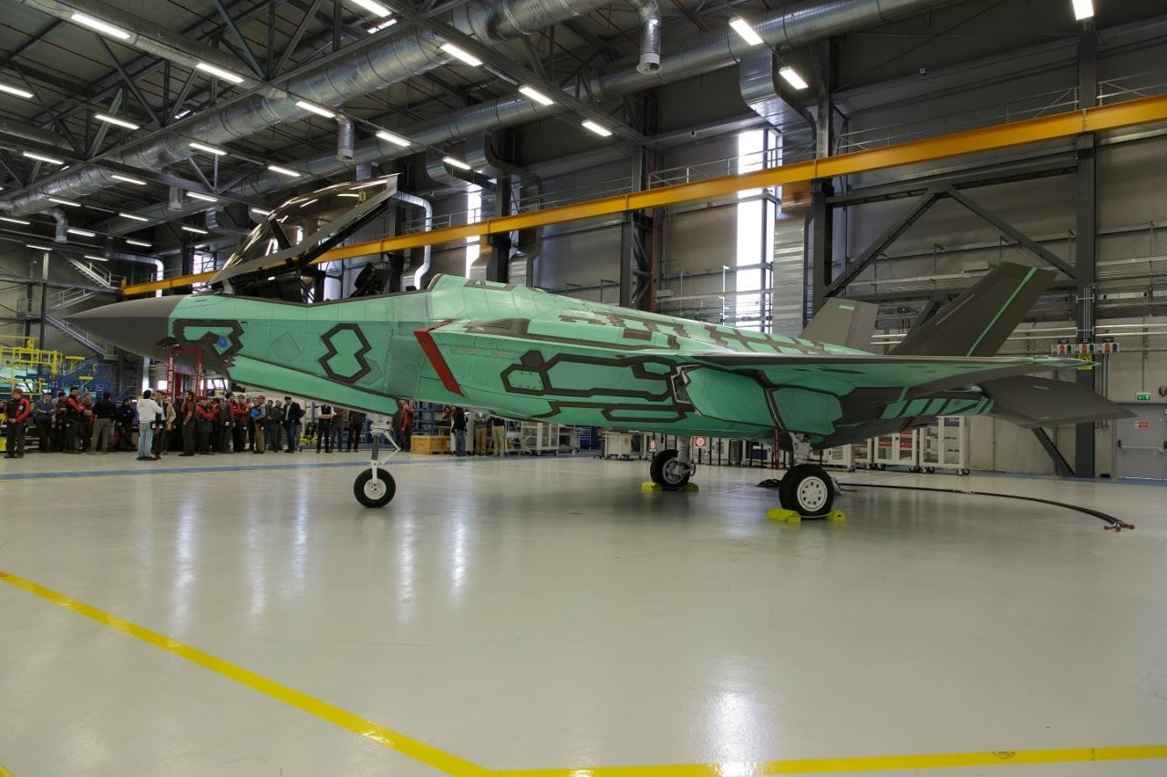 Italy's first built F-35A
