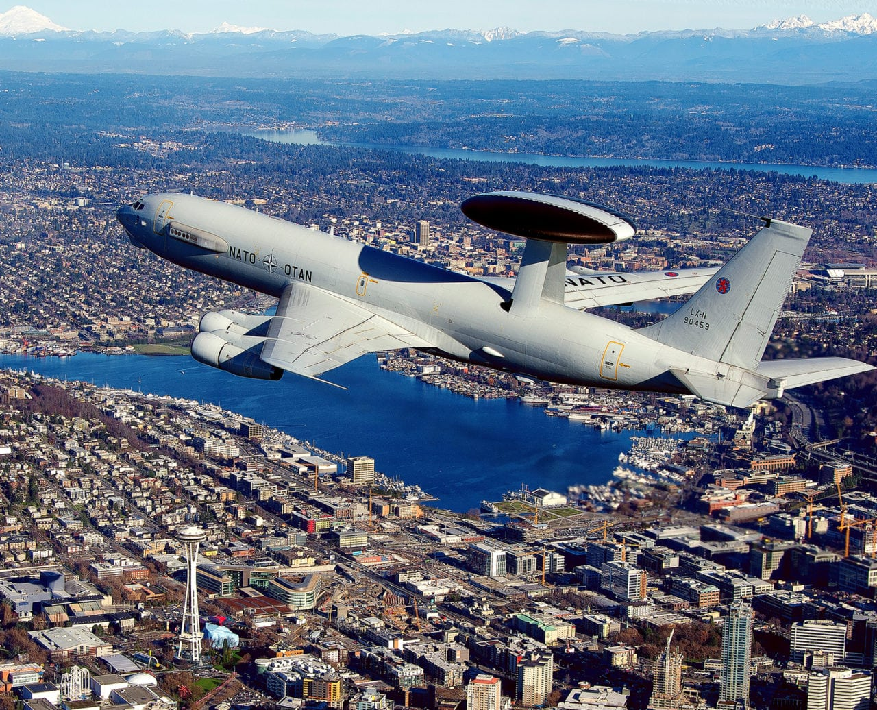 NATO's Airborne Warning and Control System (AWACS) aircraft