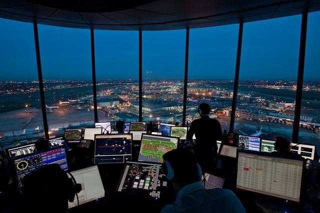 NATS control tower at Heathrow airport. Photo: NATS
