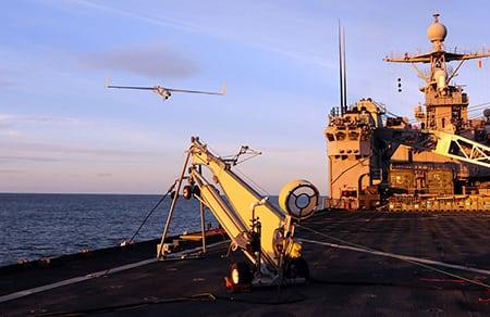 2d3 Sensing launching a maritime UAS. Photo: 2d3