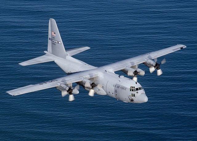 U.S. aircraft C-130E Hercules