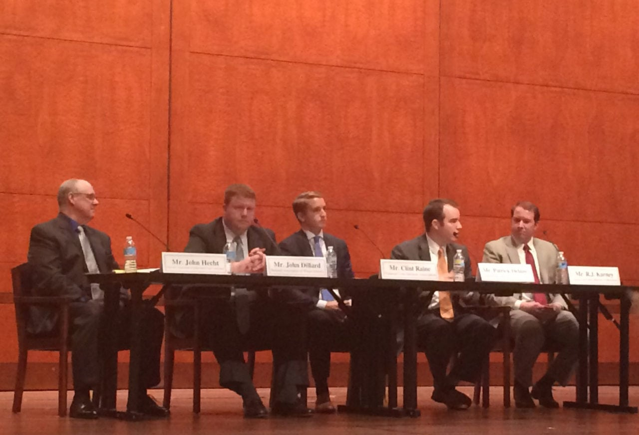 Panelists at the Agricultural Applications of Unmanned Aircraft Systems forum on Capitol Hill