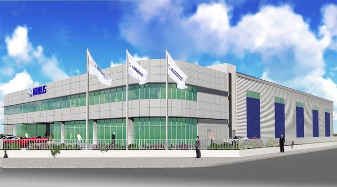 Artist rendering of Airbus Singapore training center