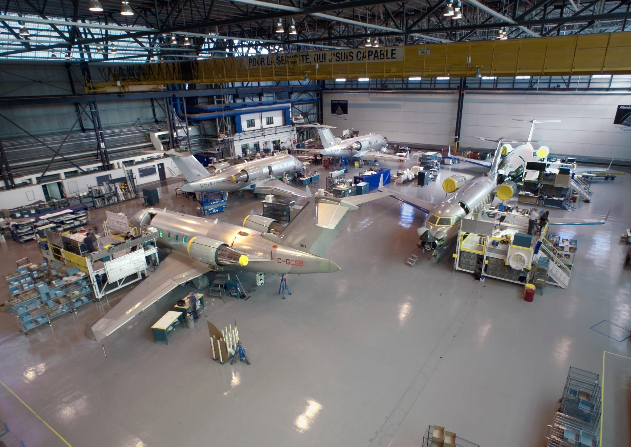 Bombardier Challenger plant, Dorval, Canada. Photo: Bombardier